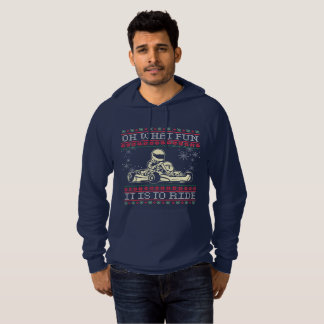 Ugly Christmas Go Kart Oh What Fun it is to Ride Hoodie