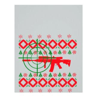 Ugly Christmas gun Letterhead Template