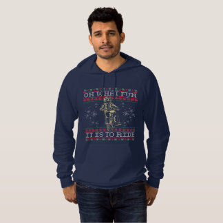 Ugly Christmas Motocross Oh What Fun it is to Ride Hoodie