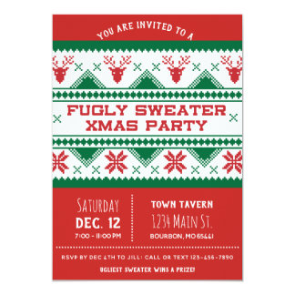 Ugly Christmas Party Invitation