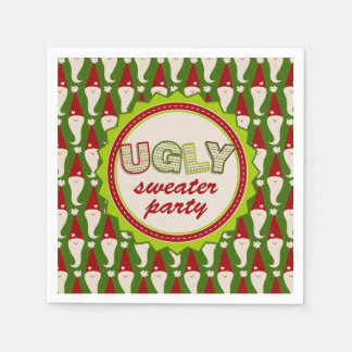 Ugly Christmas Santa Sweater Cocktail Napkins Disposable Napkin