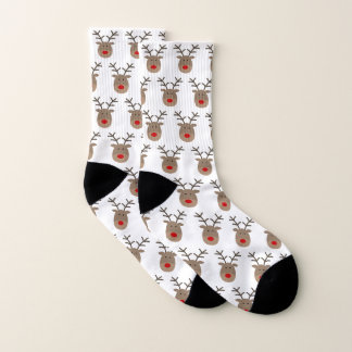 Ugly Christmas socks with funny reindeer pattern 1