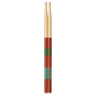 Ugly christmas square pattern drumsticks