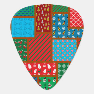 Ugly christmas square pattern guitar pick