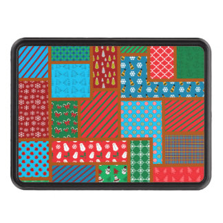 Ugly christmas square pattern trailer hitch covers