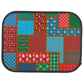 Ugly christmas square pattern car carpet