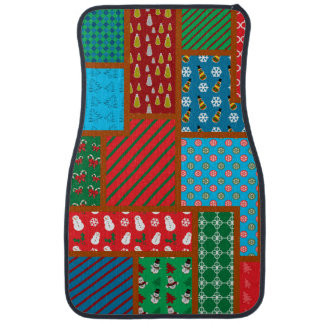 Ugly christmas square pattern car liners