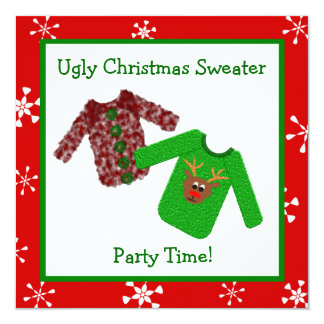 Ugly Christmas Sweater Christmas Party Invitations