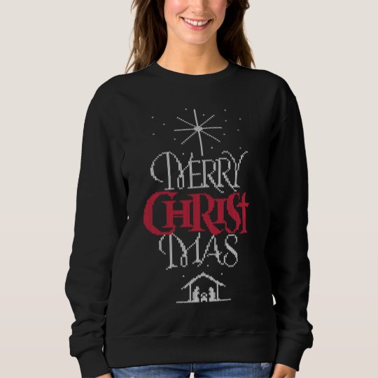 Ugly Christmas Sweater Design Christian Religious