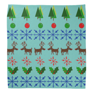 Ugly Christmas Sweater Design on Bandana