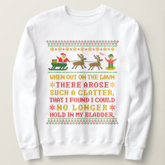 Ugly Christmas Sweater Funny Twas the Night Humor