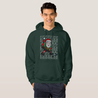Ugly Christmas Sweater Hockey Santa Claus