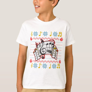 Ugly Christmas Sweater Music Notes T-shirts