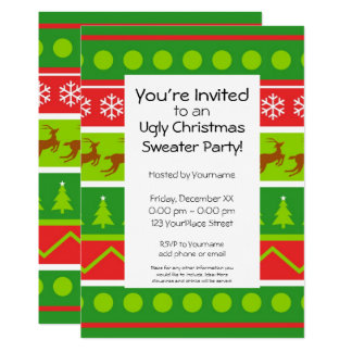Ugly Christmas Sweater Party Card