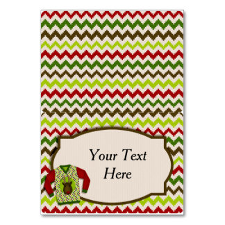 Ugly Christmas Sweater Party Food Tent Card