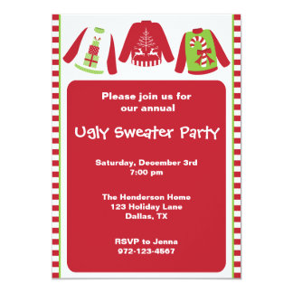 ugly sweater invitations  announcements  zazzle canada, party invitations
