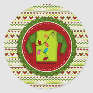 Ugly Christmas Sweater Party Stickers