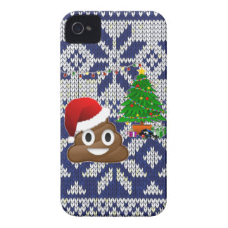ugly Christmas sweater poop emoji iPhone 4 Case-Mate Cases