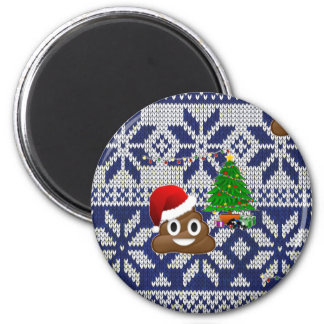 ugly Christmas sweater poop emoji Magnet