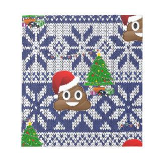 ugly Christmas sweater poop emoji Notepad