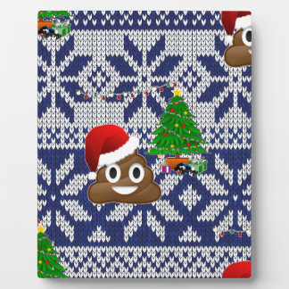 ugly Christmas sweater poop emoji Plaque