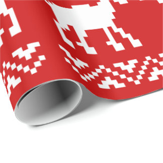 Ugly Christmas Sweater QR Code Happy New Year ! Wrapping Paper