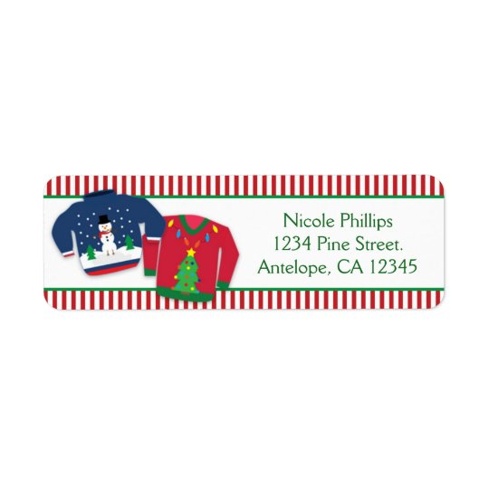 Ugly Christmas Sweaters Holiday Address Labels