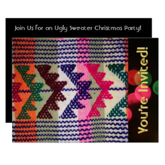 Ugly Christmas Sweaters Party Customized Card