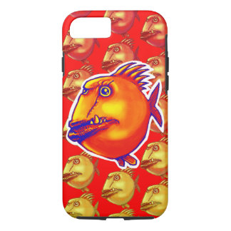 ugly fish cartoon style illustration iPhone 8/7 case