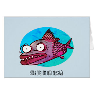 ugly fish funny cartoon card