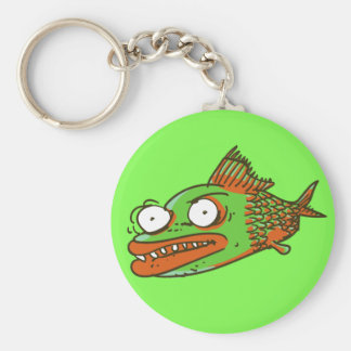 ugly fish funny cartoon keychain