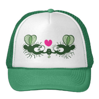 Ugly flies kissing and falling in love trucker hat