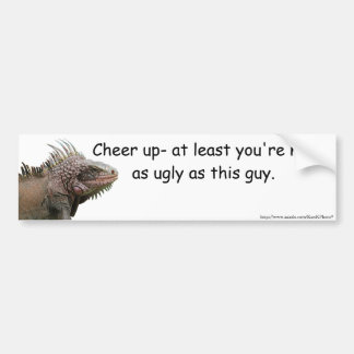 Ugly Iguana Bumper Sticker