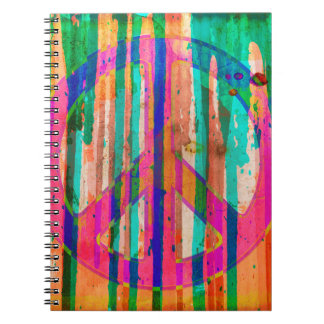 Ugly is Beautiful Peace Sign Notebook