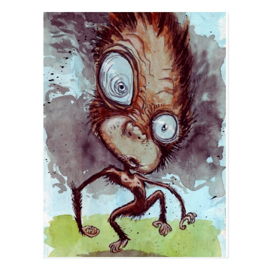 Ugly Monkey Wild Postcard