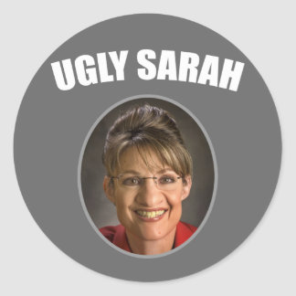 Ugly Sarah Classic Round Sticker