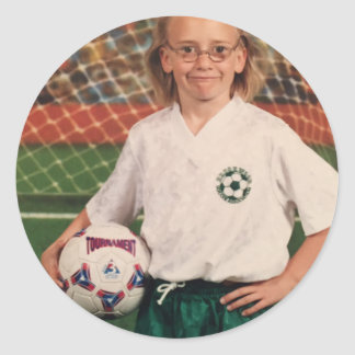 Ugly soccer photo sticker