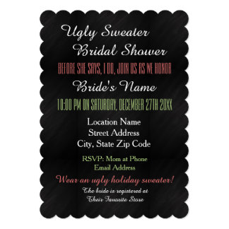 Ugly Sweater Bridal Shower Invitation
