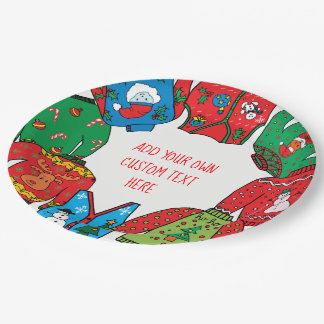 Ugly Sweater Christmas paper plates