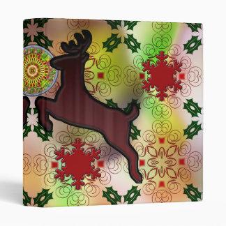 Ugly Sweater Christmas Reindeer Design 3 Ring Binder