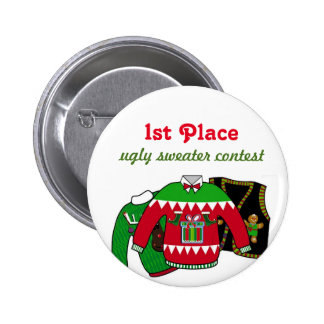 Ugly Sweater Contest Winner 2 Inch Round Button
