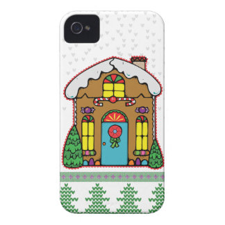 Ugly Sweater Gingerbread House Men Case-Mate iPhone 4 Cases