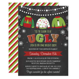 Ugly Sweater Holiday Christmas Party Invitation
