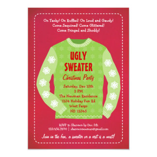 Ugly Sweater Holiday Party Invitation
