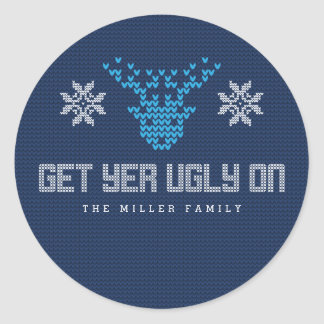 Ugly Sweater Party Accessories Classic Round Sticker