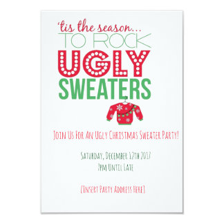 Ugly Sweater Party Invitation