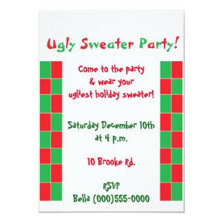 """""""Ugly Sweater Party"""" Invitations"""