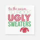 Ugly Sweater Party Paper Plates Napkin