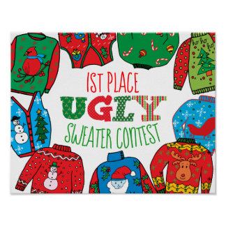 Ugly Sweater Poster, Photo Prop Poster