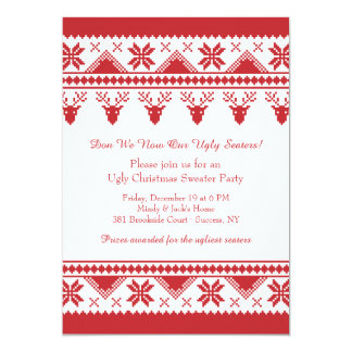 Ugly Sweater With Reindeer Invitation
